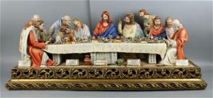 "33"" Capodimonte Cortese Figurine ""Last Supper"""