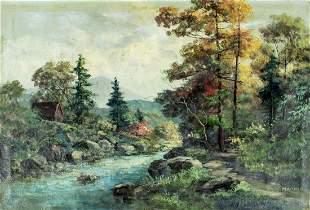 Marino (US,19C) oil painting antique