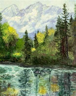 Grace Goodall (CA,mid 20C) oil painting