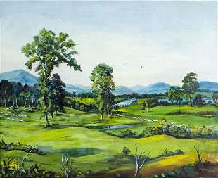 T A Mclaughlin (NH,mid 20C) oil painting