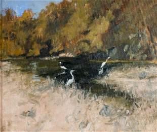 Gray Dodson (VA,20C) oil painting