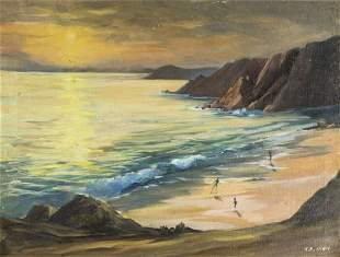 T E Older (US,20C) oil painting