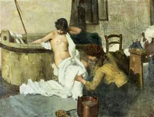 Benvenuto (Italy,19C) oil painting antique