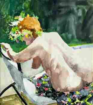 Paul Wonner (CA,AZ,1920-2008) casein painting