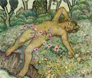 Elliot Torrey (CA,VT,1867-1949) oil painting