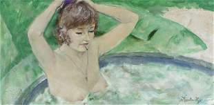 Thornton Utz (FL,TN,1914-1999) oil painting