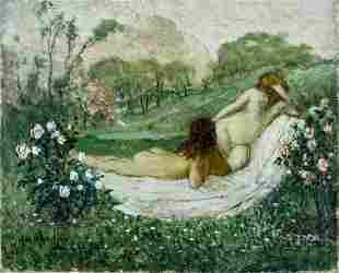 Henry Rosenberg (IL,NY,AL,NJ,1858-1947) oil painting