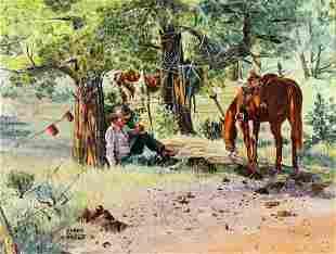 Penny Onstatt (CA,1941-1993) oil painting