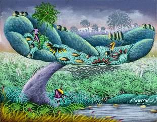 I Semorin (Haiti,20C) oil painting antique