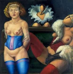 Afonso MF Oliveira (Brazil,20C) oil painting