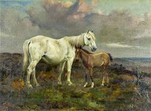 Wright Barker (UK,1864-1941) oil painting antique
