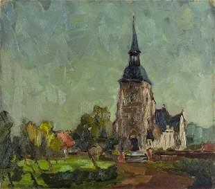 European mid 20C oil painting