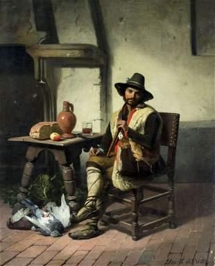 David Emile Joseph De Noter (Belgium,1818-1892) oil
