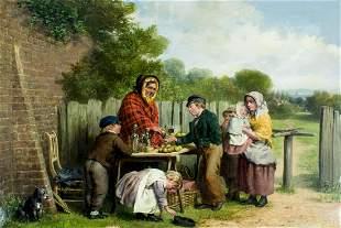 William Bromley III (NJ,Ireland,UK,1835-1888) oil