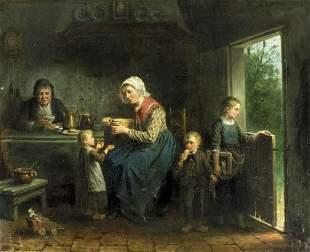 Jan Jac Damschroeder (Dutch,German,1825-1905) oil