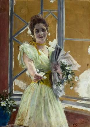 Emil Rosenstand (German,1859-1932) oil painting antique