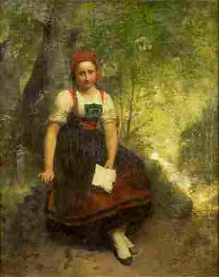 Julius Hubner (Germany,1842-1874) oil on canvas