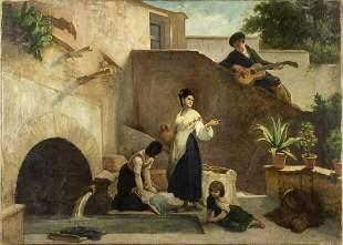 Gerrit Postma (Netherlands,1819-1894) Attributed oil on