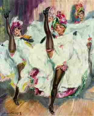 Eugene Lelievre (French,1856-1945) oil painting