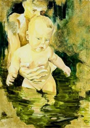 Anna Orbaczewska Niedzielska (Polish,b 1974) oil