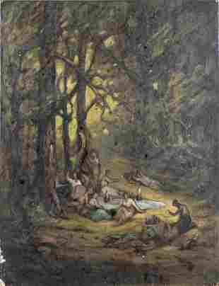 Antique 19C oil painting