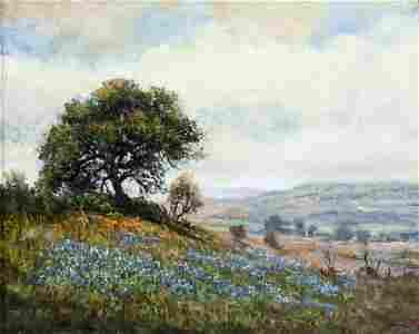 Jerry Malzahn (TX,AR,b 1946) oil painting