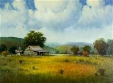 Cal Gaspard (LA,TX,1934-2020) oil painting
