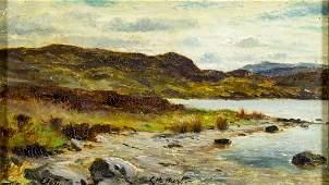 Louis Bosworth Hurt (UK,1856-1929) oil painting antique