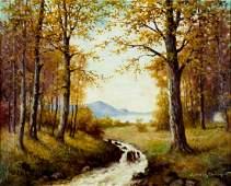 Adriaan De Groot (Dutch,NY,NJ,1870-1942) oil painting