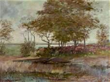 Daniel Santry (MA,NH,France,1858-1915) oil painting