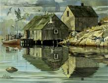 Stanley Zuckerberg (NY,1919-1995) oil painting