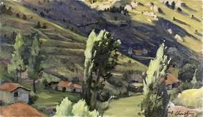 Peter Churcher (Australia,b 1964) oil painting
