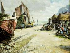 Walter Francis Brown (RI,Italy,1853-1929) oil painting