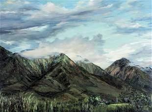 Joyce Clark (CA,Hawaii,1916-2010) oil painting