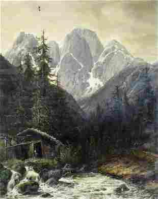 Willibald Wex (German,1831-1892) oil painting antique