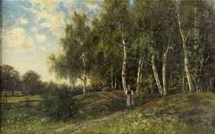 Wilhelm Julius Weidig (Sweden,1837-1918) oil on canvas