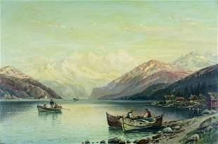Carl Bertold (Swiss,19/20C) oil painting antique