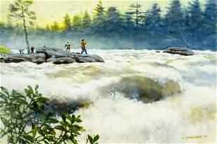 Ward Brackett (WI,CT,NY,1914-2006) oil painting