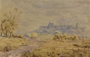 John Heaton (UK,fl.1884-1890) watercolor painting