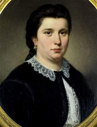 Jan Frederik Portielje (Belgian,Dutch,1829-1908) oil