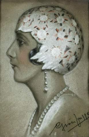Louis Gerstenheim (NY,Poland,1890-???) pastel painting