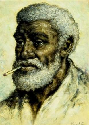 Jose Paolo Licatti (Brazil,1910-1990) oil painting