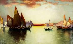 Richard De Ribcowsky (CA,Argentina,1880-1936) oil on