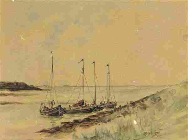 Percival Clinton Thomas (NY,19/20C) watercolor painting