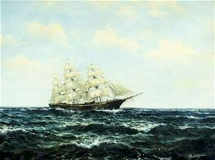 Kovacs (US,20C) oil painting