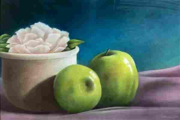 Donna McGinnis (WA,CA,20C) pastel painting