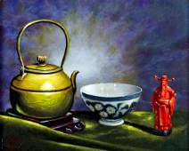 Kay Hendricks (CA,CO,1923-2005) oil painting
