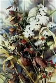 Nancy Stonington (ID,born 1944) watercolor painting