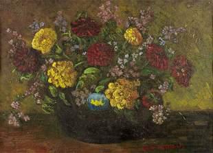 Rosa Von Guttenberg (Austria,1878-1959) oil on board