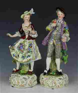 Dresden Volkstedt 2 figurines